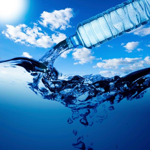 Je bois beaucoup d'eau