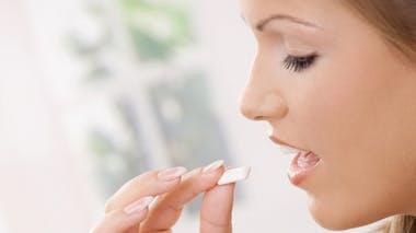 Je mâche du chewing-gum sans sucre