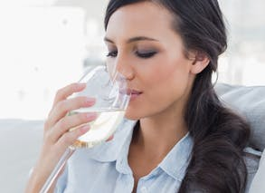 Je me contente d'un verre de vin par jour