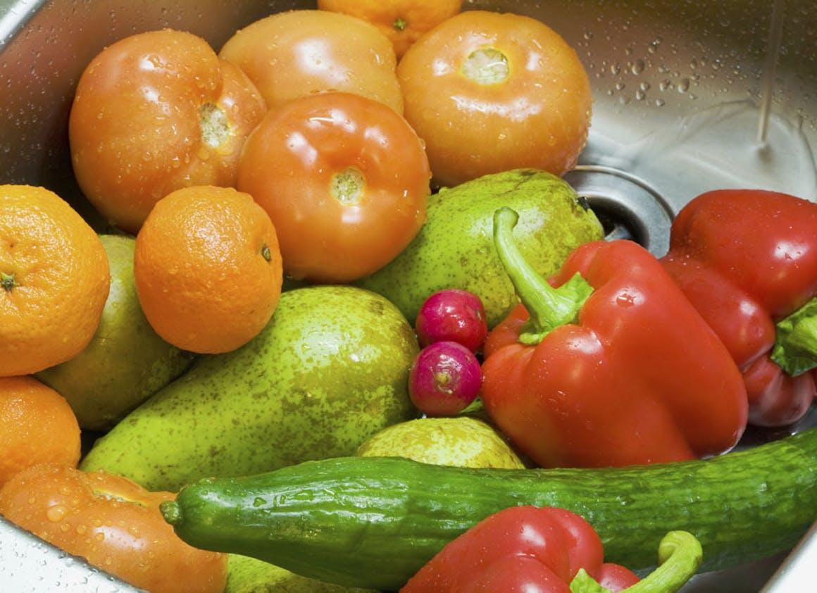 Rincer les légumes en conserve