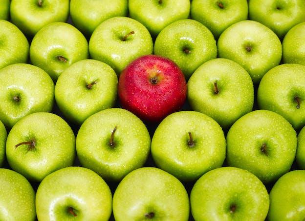 La pomme a un effet rassasiant