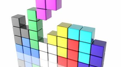 Le jeu Tetris bon pour la vue et la maladie de l'œil paresseux