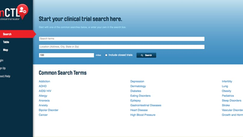 Un site internet regroupe l'ensemble des essais cliniques