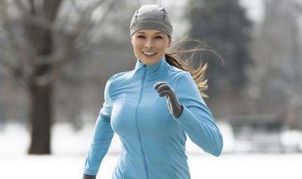 Courir en hiver dans le froid