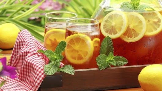 5 recettes de thés glacés maison