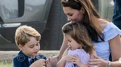 Kate Middleon, le prince George et la princesse Charlotte
