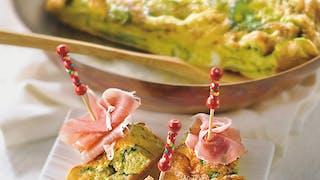 Omelette aux épinards et jambon cru