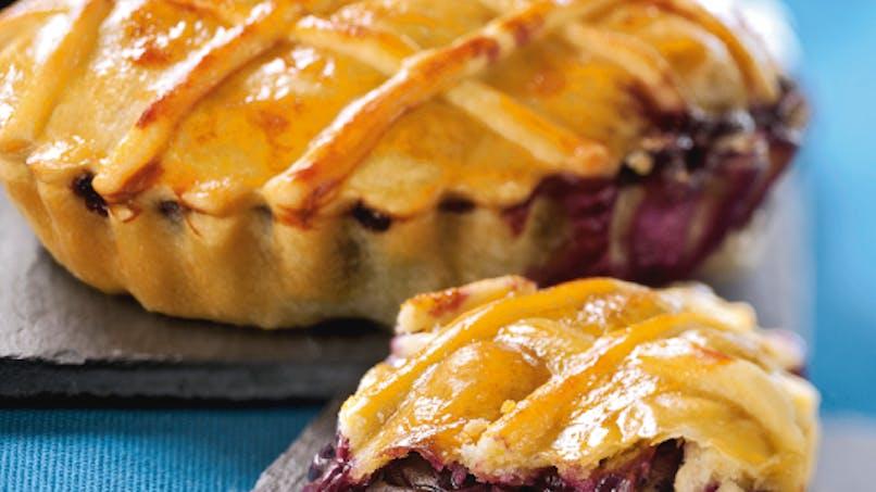 Mini-tartes aux myrtilles