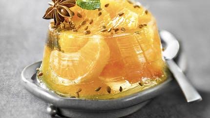 Aspic d'agrumes en gelée d'anis