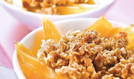 Crumble de mangue aux céréales