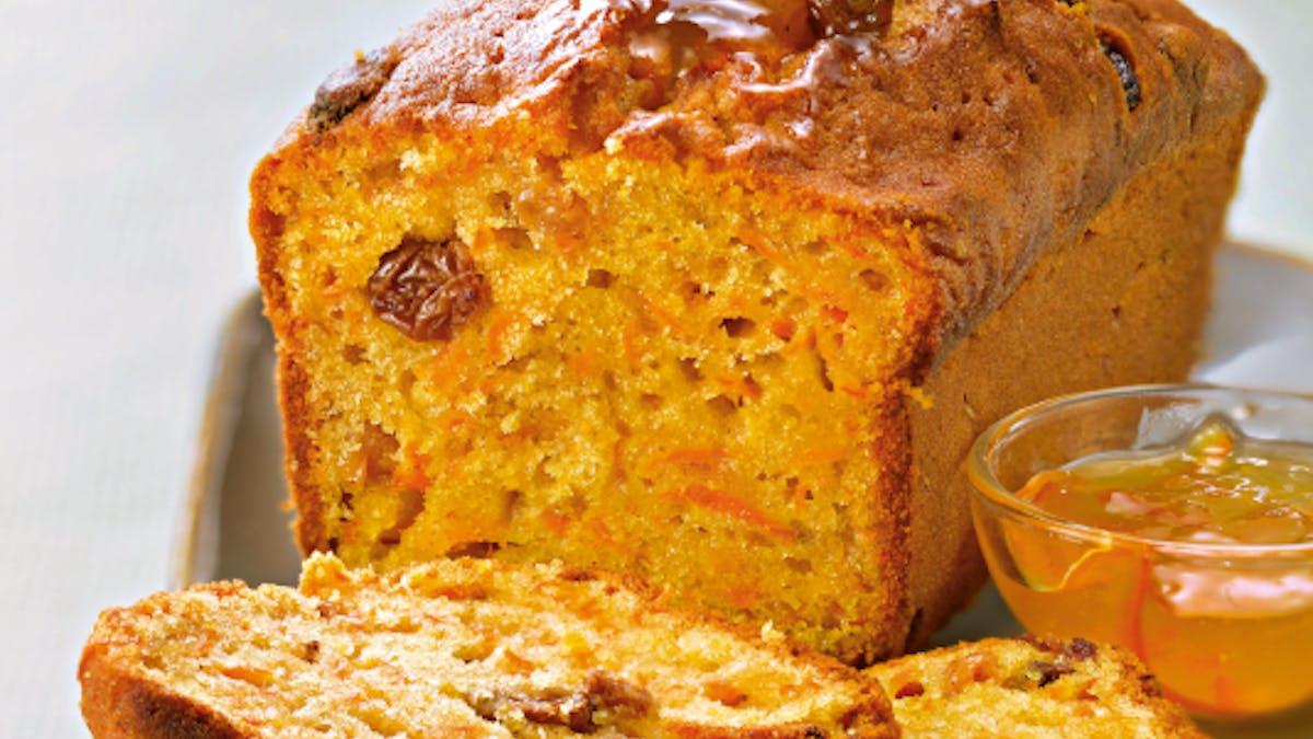 Gâteau à la carotte et aux raisins secs