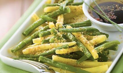 Salade de haricots aux germes de blé