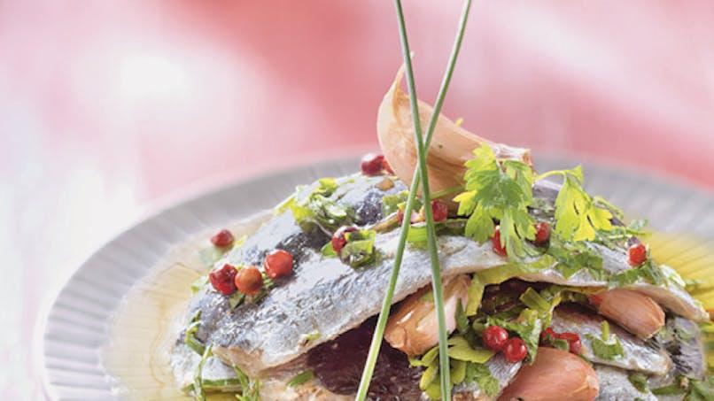 Filets de sardines crues à l'huile d'olive