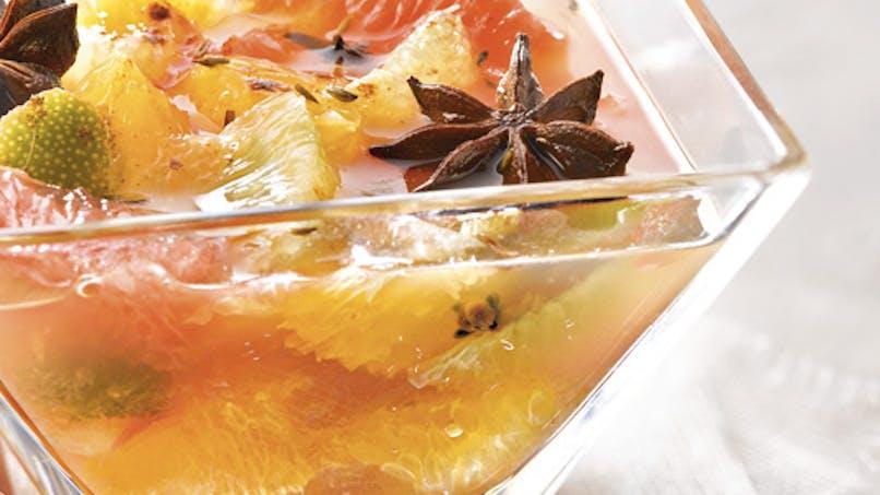 Soupe d'agrumes à l'infusion d'épices