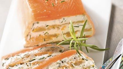 Terrine de poissons au fromage frais