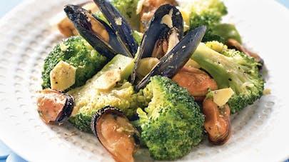 Poêlée de moules et brocoli