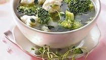 Brocoli et chou-fleur au bouillon de thym