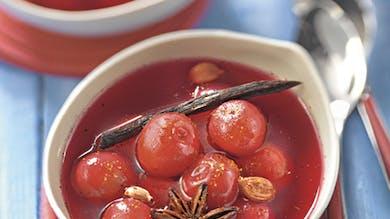 Soupe de cerises aux épices