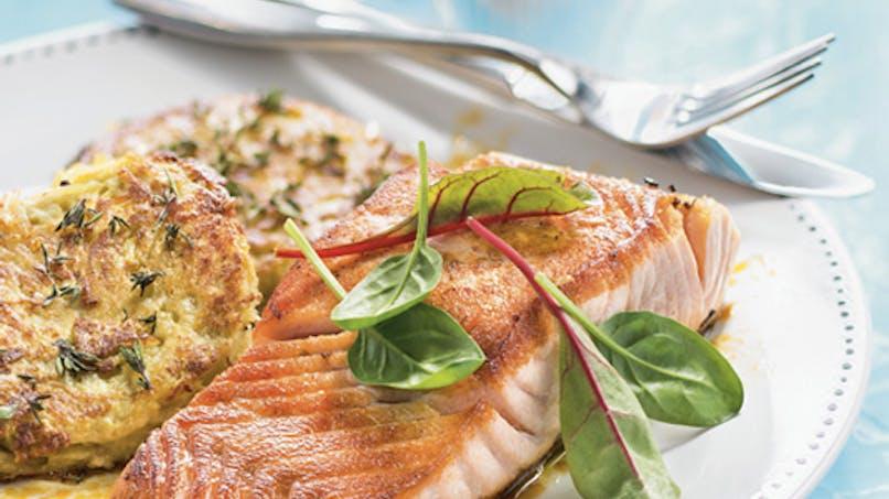 Galettes de pommes de terre et saumon