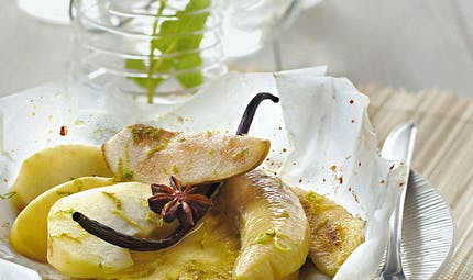 Fruits d'hiver en papillote
