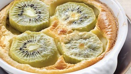 Clafoutis aux kiwis et à la fève tonka