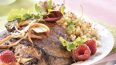 Foie de veau au vinaigre de framboise