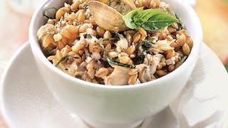 Salade d'épeautre aux coques