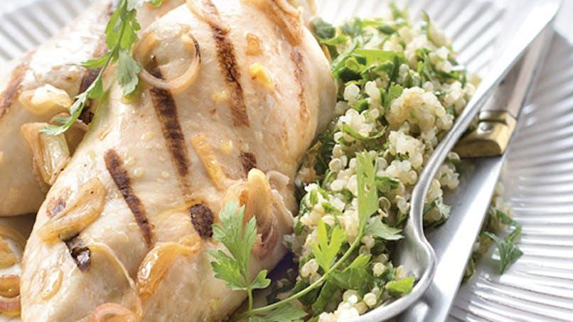 Blanc de poulet citronné au quinoa