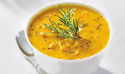 Soupe aux deux carottes et au romarin