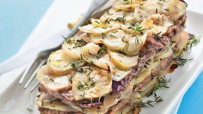 Millefeuille pommes de terre-bœuf