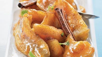 Poêlée pommes-bananes à la cannelle