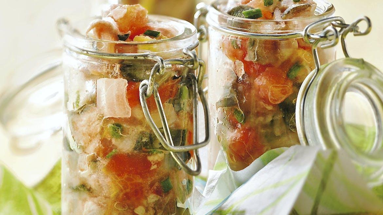Tartare de sardines et tomates au citron