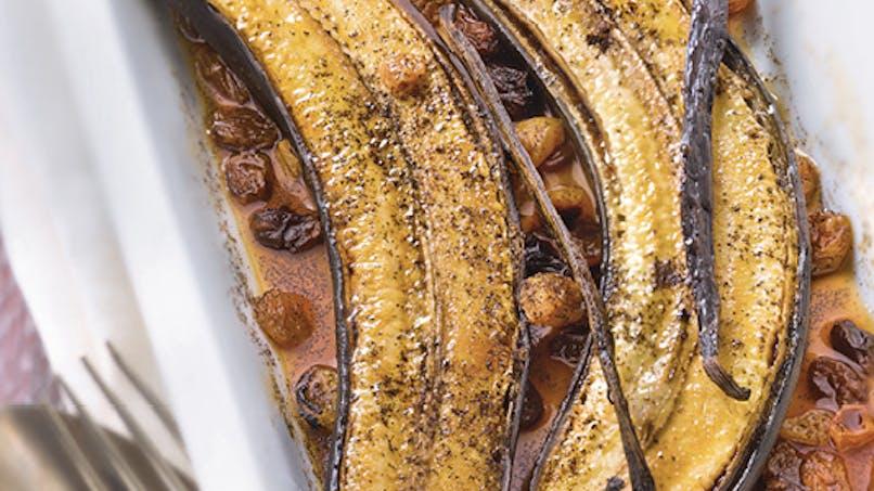 Bananes braisées à la vanille