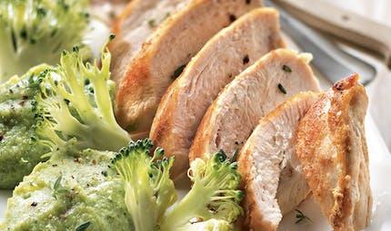 Filet de volaille au gingembre et brocoli