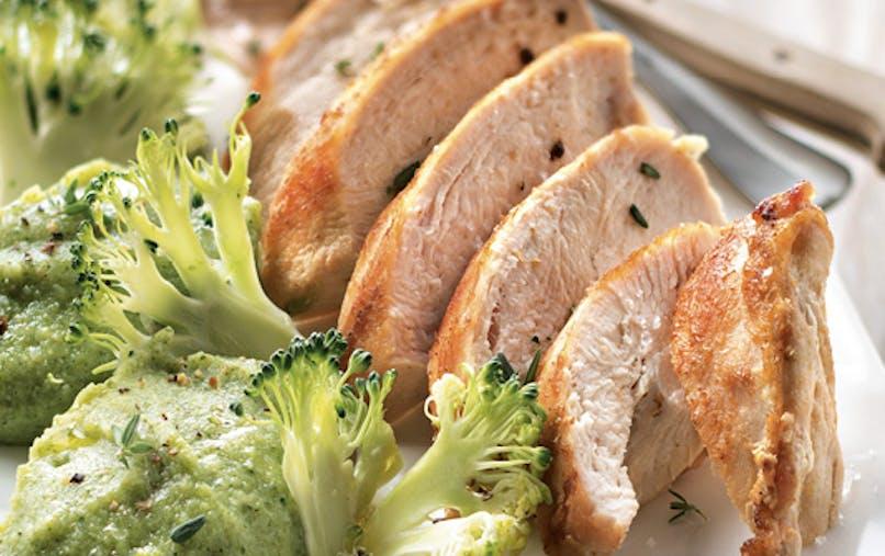 Filet de volaille gingembre et brocoli