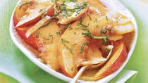 Salade pêches nectarines à la menthe