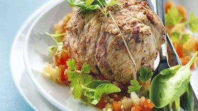 Paupiette de veau farcie aux légumes
