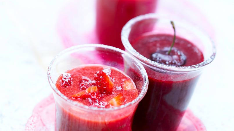 Gaspacho de fruits rouges