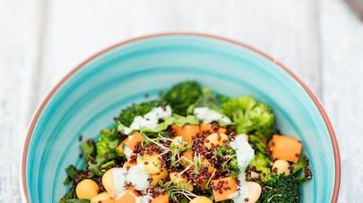 Quinoa rouge aux petits légumes