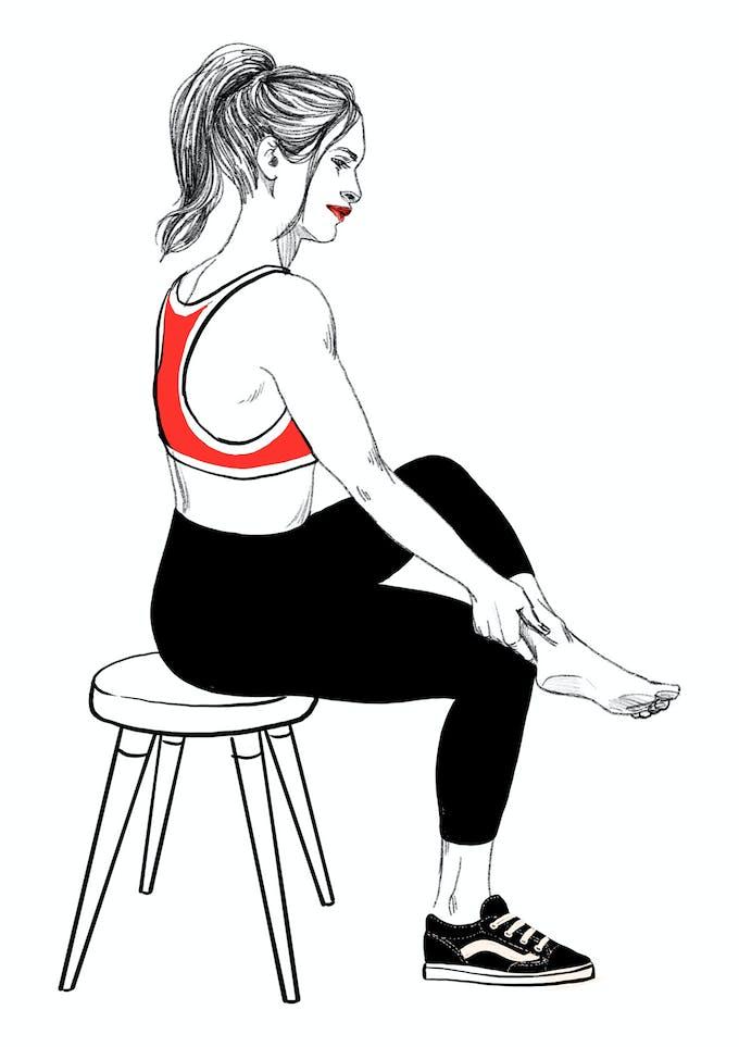 exercice 1A tendinite du talon