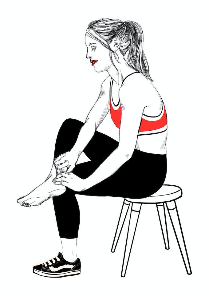 exercice 1B tendinite du talon