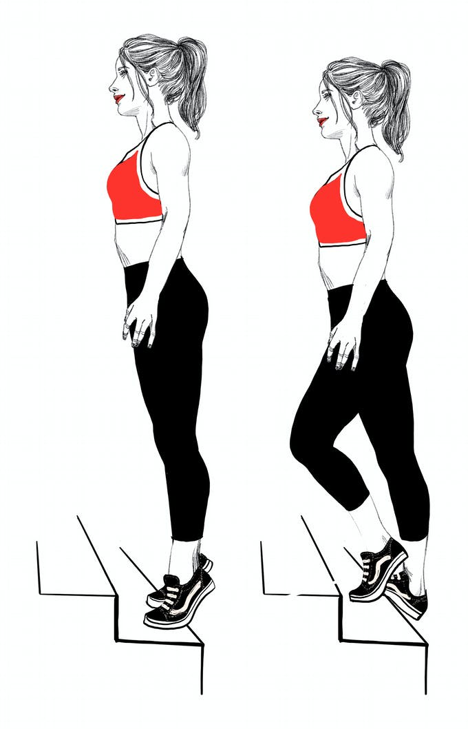 exercice renforcement du talon