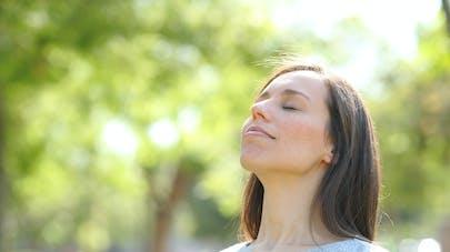 Respirer l'air sain