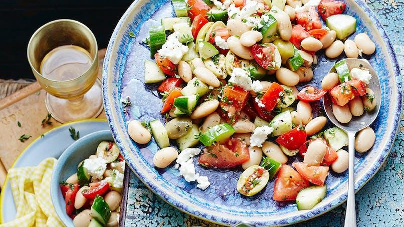 Salade de haricots blancs et petits légumes