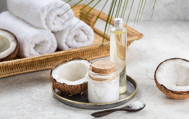 huile de coco soin peau