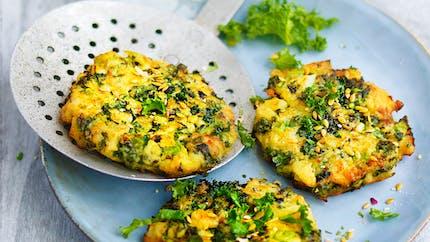 Croquettes de chou kale, pomme de terre et fromage