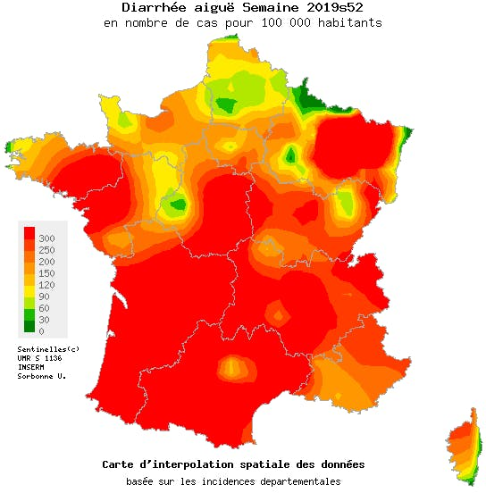 epidemie gastro 2020 carte Gastro enteritis epidemic spreads out and hits all the regions
