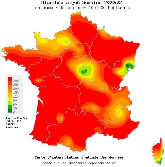 L'épidémie de gastro s'étend à toute la France