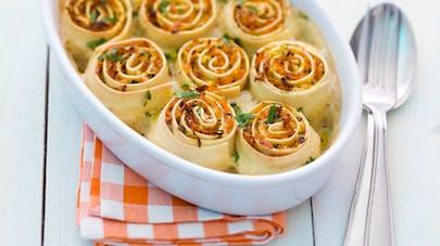 Pasta rolls au potiron