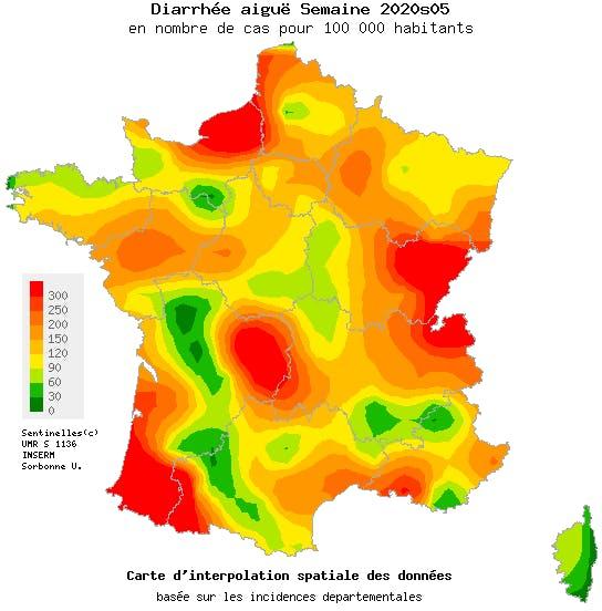 Epidémie de gastro en France au 2 février 2020